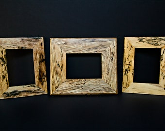 Vintage Hancrafted Reclaimed Spalted Maple Picture Frames Hardwood Frame Custom Frames Picture Frames Handmade Picture Frames Maple Frame