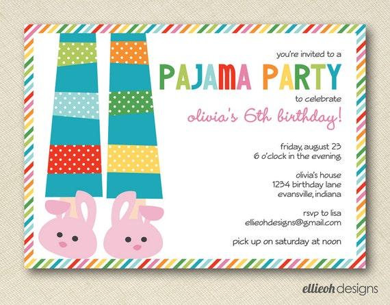 Pyjama Party Invite is awesome invitation ideas