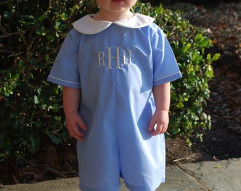 Monogram Romper for baby boy, Easter