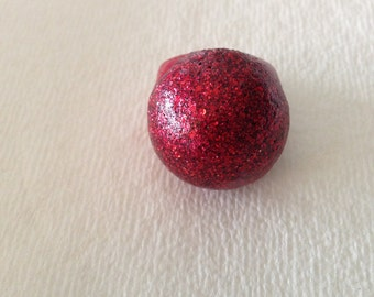 Glittery Red Bauble Ring