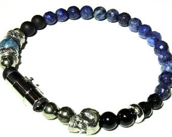 EARTH- Mens Blue Lapis Bracelet