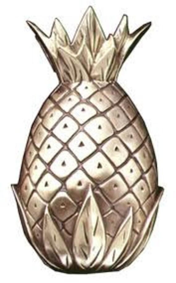 Reduced pineapple door knocker large 8 5 inch polished brass - Pineapple door knocker ...