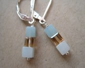 Simply stacked gemstone earrings