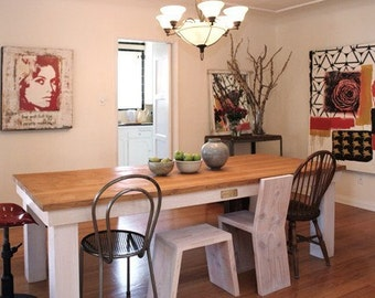 Beautiful Reclaimed Wood Dining Table.made in Los Angeles