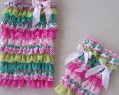 Easter Chevron Petti Romper and Matching Leg Warmers
