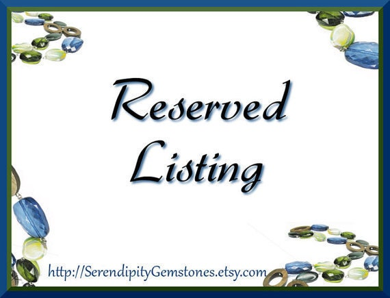 RESERVED listing for laurapaulinedesigns