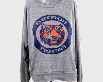 Detroit Tigers Women's Sweater Vintage 80's Logo womens pullover 1984 Tigers World Series Logo Baseball Mom