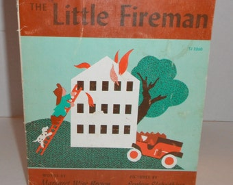 The Little Fireman Margaret Wise Brown SC Vintage Book Scholastic