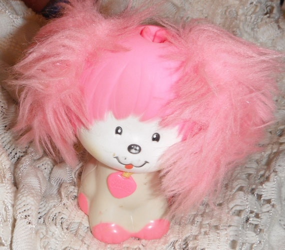 Mattel Poochie Dog 1980s Pink and White 4 1/2 by ...