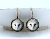 Owl Earrings: Barn Owl. White Owl. Gift for Her. Jewelry. Handmade. Dangle Earrings. Long Earrings. Drop Earrings. Lizabettas