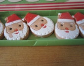 A Vintage Boxed Set of Hand Decorated Soapy Santas