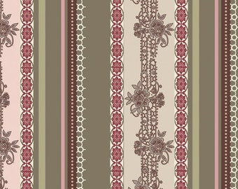 SALE - Dashing Roses - Olive Lace Ribbons from Art Gallery Fabrics