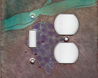 enameled copper light switch/outlet cover/ grapes