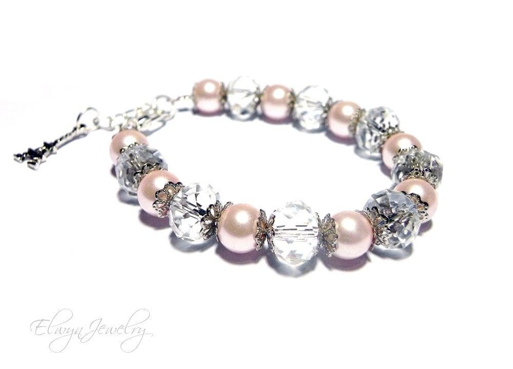 little girl bracelet flower girl jewelry pearl by elwynjewelry. Black Bedroom Furniture Sets. Home Design Ideas