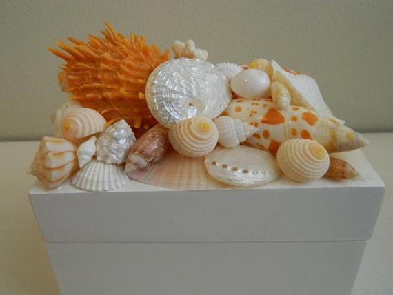 Orange and White Beachy Trinket Box