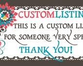 Custom Listing for - Custom Logo Listing for - Brandie Layne