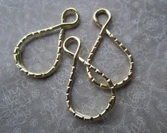 Gold Plated Key Rings Split Ring Key Rings 30Pcs.
