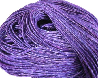 Purple Handspun Vegan Bamboo 1-ply Yarn