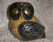 Ceramic OWL Sculpture JAPAN 1960s for Magic and Enlightenment