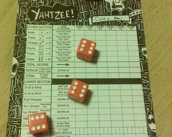 Radical Custom Yahtzee Score Sheets Dangling Fury 2013