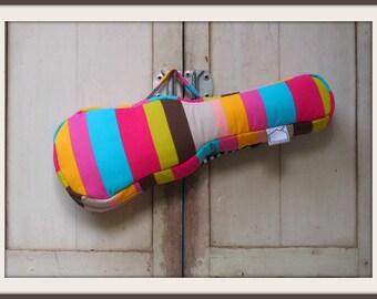 Concert ukulele case - Colorful Pop -  Colorful Stripe Ukulele Bag with hidden pocket ( Made to order)
