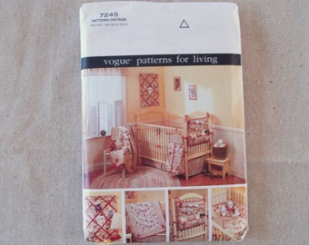 VOGUE Pattern 7245 One Size Nursery Accessories Baby Room - Uncut.