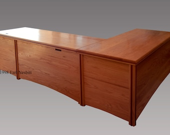 Office desk, solid wood