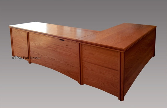 office desk solid wood by earlnesbittfurniture on etsy