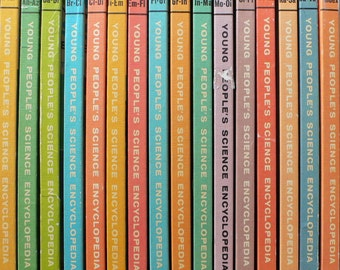 vintage Encyclopedia, Young People's Science, 16 volumes set, 1966 from Diz Has Neat Stuff