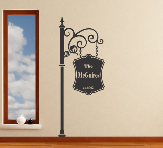 Family Sign personalized wall decal removable sticker