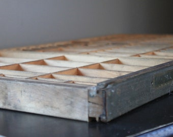 Vintage Wooden  Letter Press Drawer