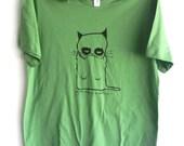 grumpy cat green tshirt  womens
