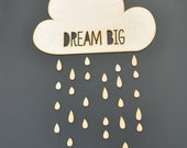 Dream Big MDF Wood Sign - Paintable