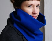 Cowl Scarf /  Ultramarine / 100 % Wool