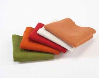 Felix Fox felt bundle, wool felt collection, hand sewing, craft felt, wool craft felt, craft supplies