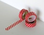 Red striped washi tape perfect for a candy cane look