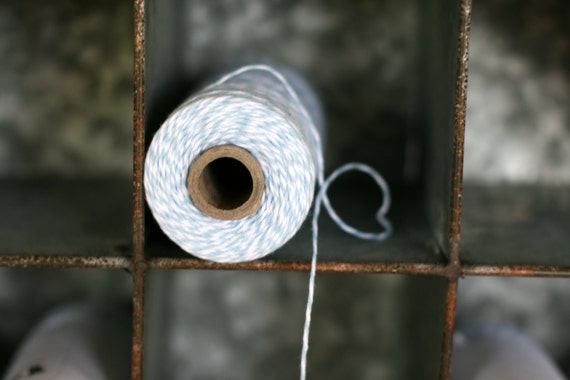 Bakers twine Shore baby blue full spool, bakers twine light blue, bakery twine, baby blue bakers twine, cotton twine