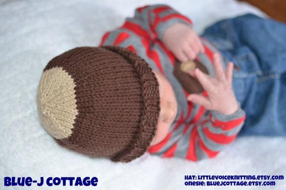 Buckeye Baby Hat, Ohio State, Infant Toddler Child sizes, handmade knitting