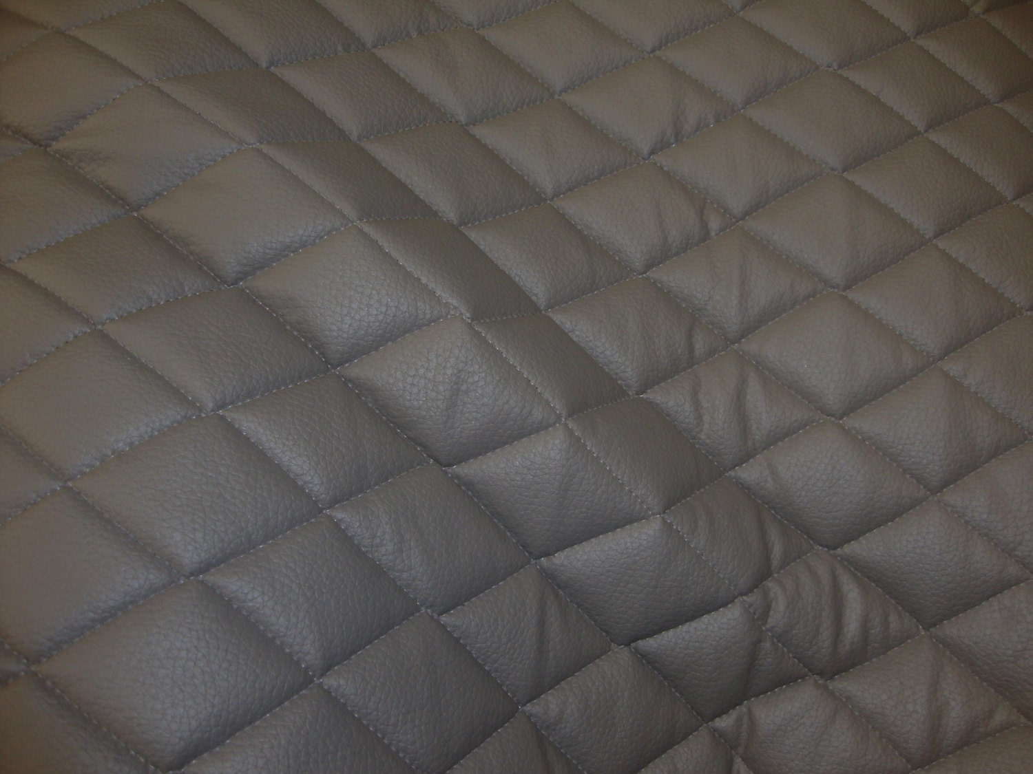 Grey Quilted Vinyl fabric with 3/8 Foam Backing : quilted vinyl - Adamdwight.com