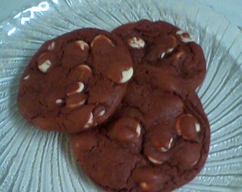 Red Velvet Cookies- Red and Whites (24 cookies)