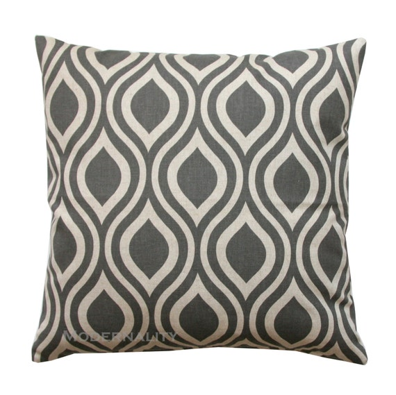 Throw Pillows In Clearance : CLEARANCE Decorative Throw Pillow Taupe Pillow Kelp Nicole