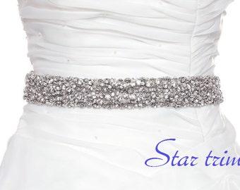 SALE KAREN rhinestone  wedding bridal sash , belt