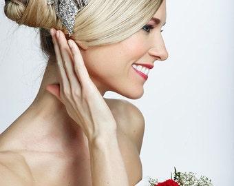 SALE crystal wedding bridal flower haircomb , brooch