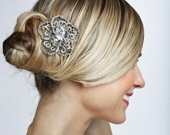 SALE crystal wedding bridal haircomb , brooch