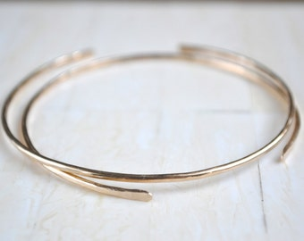 Gold Filled Bangle Simple Gold Cuff Gold Bracelet Simple Gold Bracelet Thin Gold Bangle