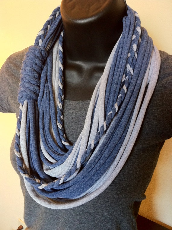 Items similar to Jersey Scarf T Shirt Scarf Infinity