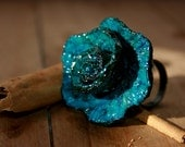 Turquoise Rose adjustable ring
