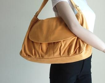 Christmas in July SALE , Messenger Bag, Fortuner in Mustard , Purse / Shoulder bag / Handbag/ Diaper Bag/ School Bag/ Women / 40% OFF