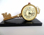 Russian Soviet Union vintage mechanical alarm clock/ Slava
