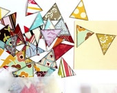 Create Your Own Bunting, 60 Assorted Triangles, SHIPS FREE with another item